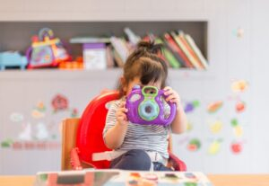 Image of little girl in daycare